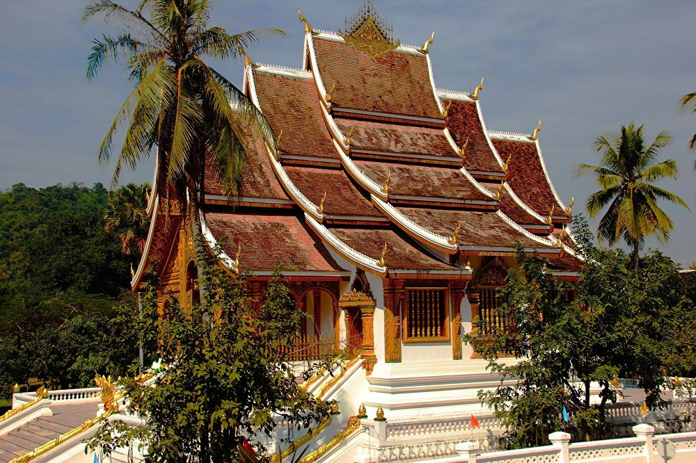 Город в Лаосе Луангпхабанг