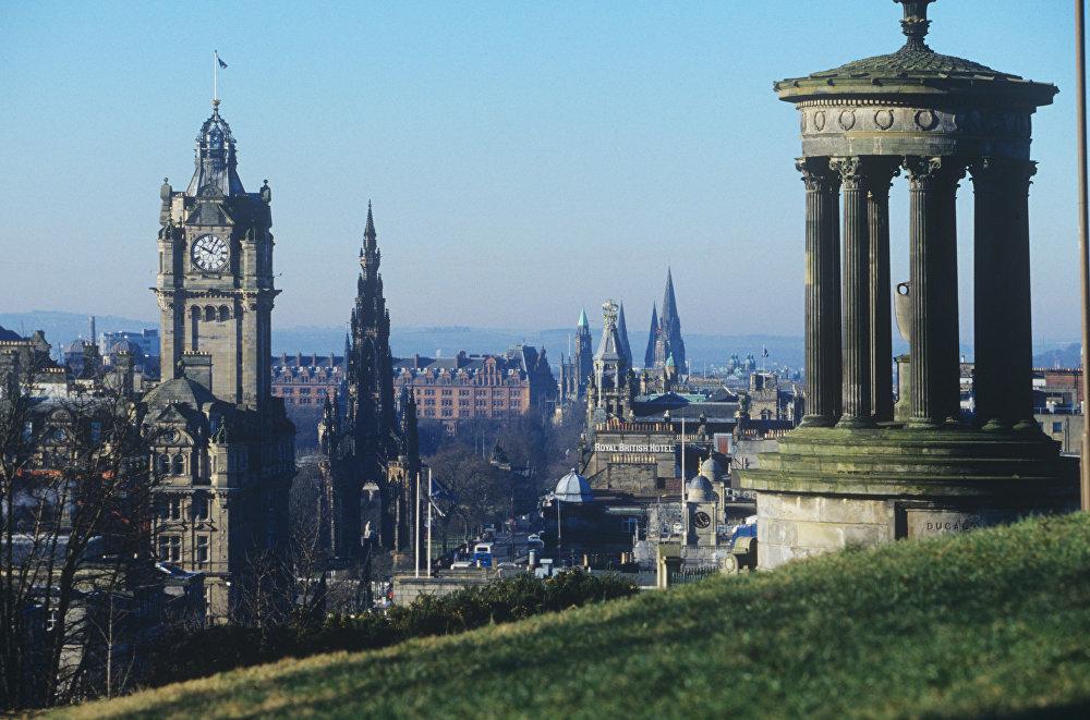 Столица Шотландии, город Эдинбург