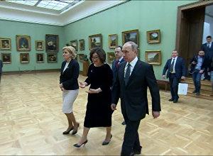 Putins aplūkojis Vatikāna šedevrus izstādē Tretjakova galerijā