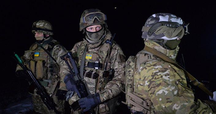 Ukrainas karavīri. Foto no arhīva