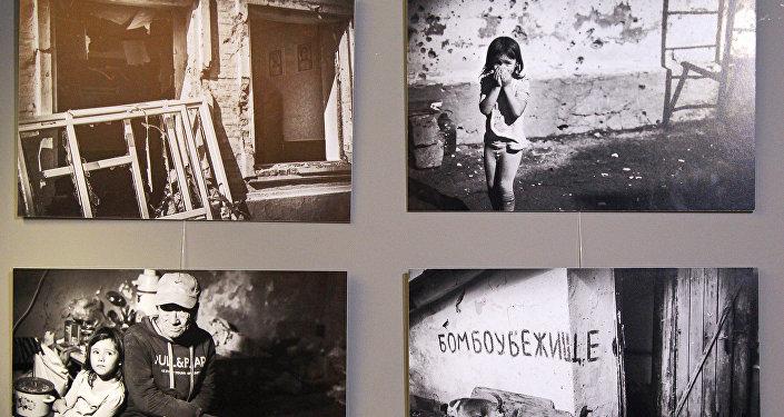Выставка Дети Донбасса в Риге