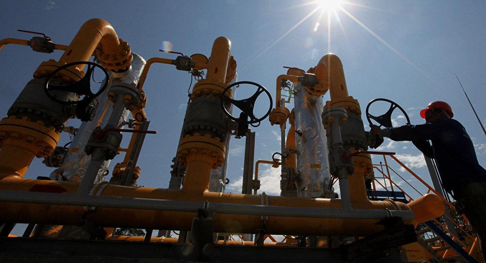 Gāzes cauruļvada būvniecība. Foto no arhīva