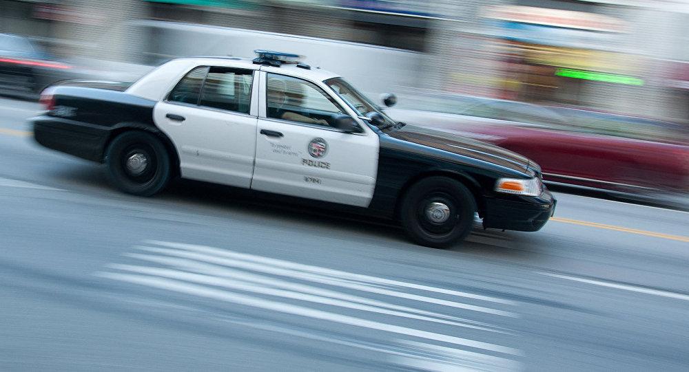 Полицейский патрульный автомобиль, архивное фото