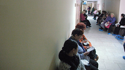 В коридоре поликлиники