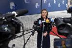 Представитель ЕС по иностранным делам и политике безопасности Федерика Могерини общается с журналистами