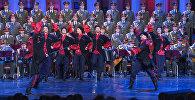 Aleksandrova ansamblis pirmo reizi iznācis uz skatuves pēc traģiskās katastrofas decembrī