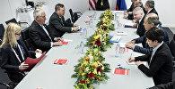 Krievijas ārlietu ministra Sergeja Lavrova un ASV valsts sekretāra Reksa Tilersona tikšanās