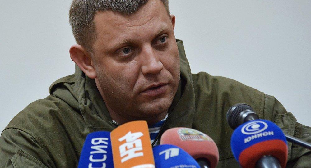 Doņeckas Tautas Republikas vadītājs Aleksandrs Zaharčenko