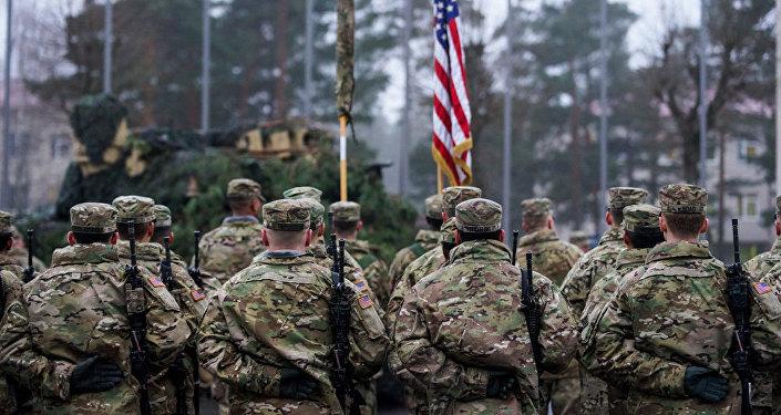 Церемония смены американского контингента