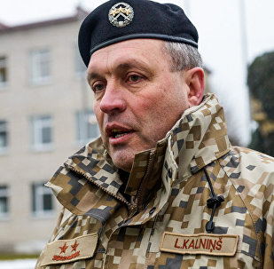 Командующий НВС Латвии генерал-майор Леонид Калниньш