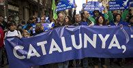Barselonā demonstranti pieprasa uzņemt vairāk bēgļu