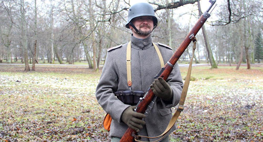 Участник военно-исторических реконструкций Александр Батов