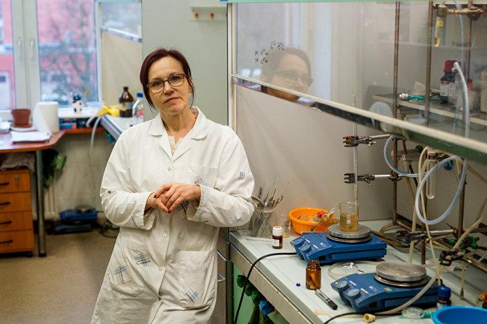 Доктор химических наук Виктория Рябова, ведущий научный сотрудник и разработчик новых лекарств