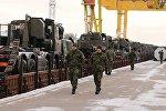 Чешская военная бронетехника прибывает в Литву, архивное фото