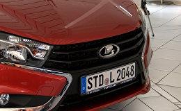 Pircējiem Vācijā prezentē jaunās Lada Vesta