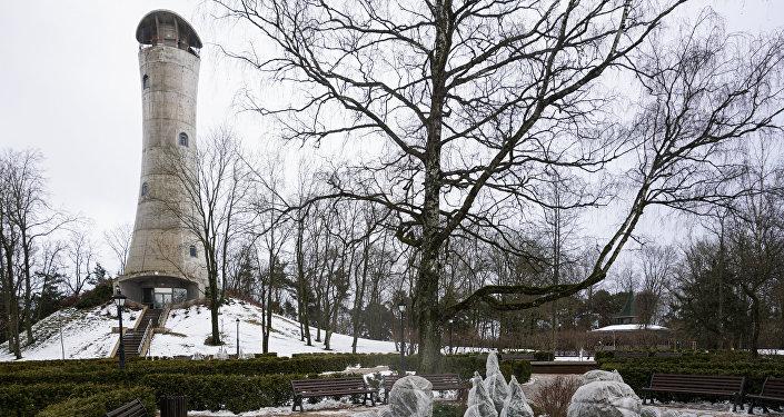 35 metrus augstais skatu laukums Ziemelblāzmas parkā Vecmīlgrāvī