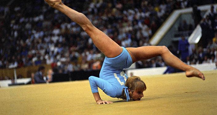 Гимнастка Ольга Корбут, архивное фото