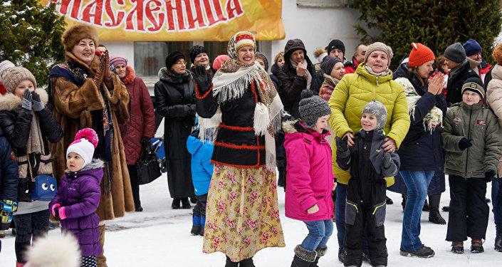 Празднование Масленицы в санатории Янтарный берег