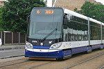Низкопольный трамвай в Риге
