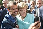 Селфи с канцлером Германии Ангелой Меркель