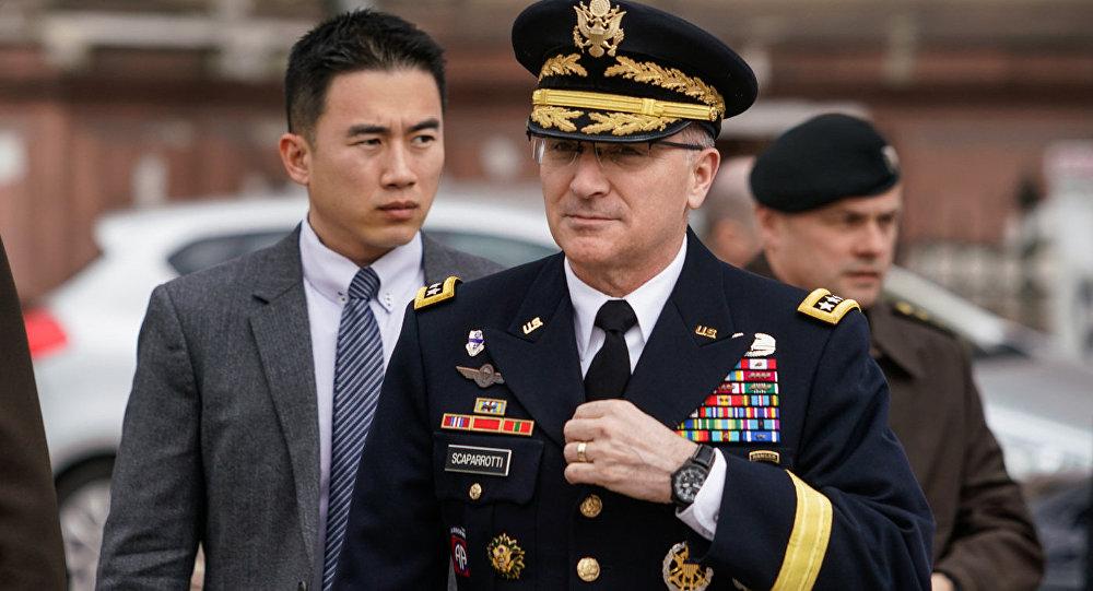 NATO spēku virspavēlnieks Eiropā ģenerālis Kērtiss Skaparoti