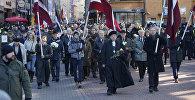 Участники шествия легионеров в Риге