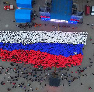 Dzīvais Krievijas karogs Sevastopolē