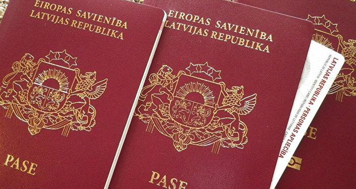 Латвийский паспорт. Архивное фото