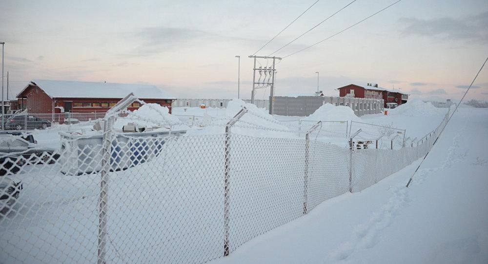 Bēgļu nometne Norvēģijas ziemeļos. Foto no arhīva