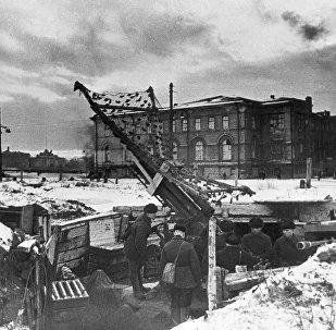Cīņa Ļeņingradas blokādes dienās. Foto no arhīva
