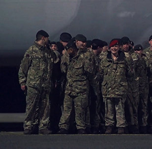 Самолет доставил солдат НАТО в Эстонию