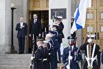 Министр обороны США Джеймс Маттис и министр обороны Финляндии Юсси Ниинисте