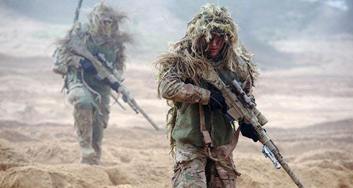 Совместные учения канадских и латвийских солдат