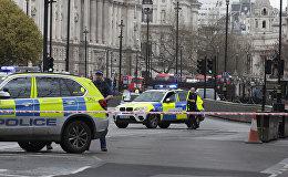 Policija uzbrukuma vietā Londonā. Foto no arhīva