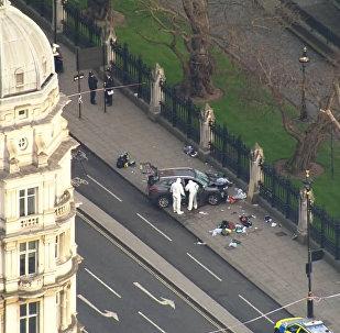 Кадры с места теракта в Лондоне