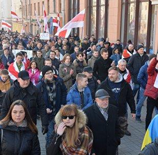 Gājiens Minskā Gribas dienas laikā