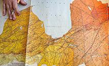 Карта кристаллического фундамента в разных районах Риги