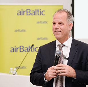 Мартин Гаусс, глава авиакомпании airBaltic