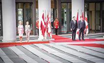 Раймонд Вейонис и Георгий Маргвелашвили в резиденции президента Грузии