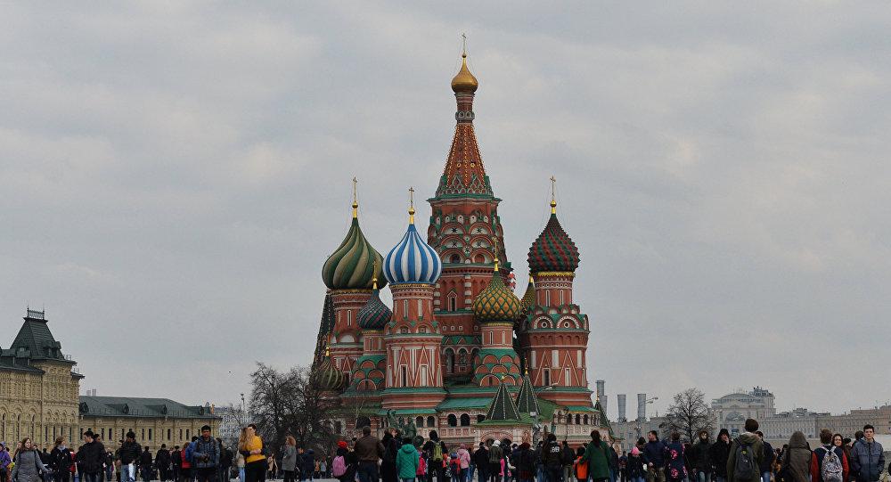 Покровский собор на Красной площади в Москве архивное