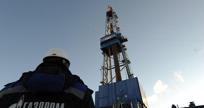 Газпром, бурение газовой скважины