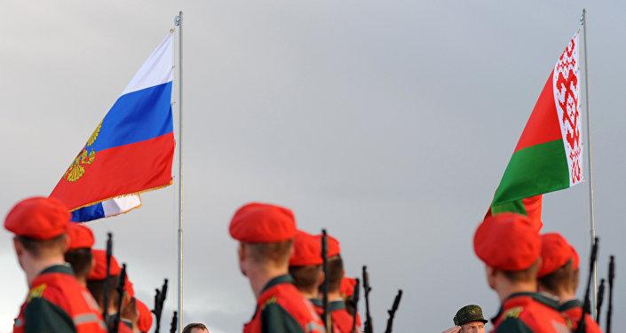 Krievijas un Baltkrievijas militārās mācības. Foto no arhīva