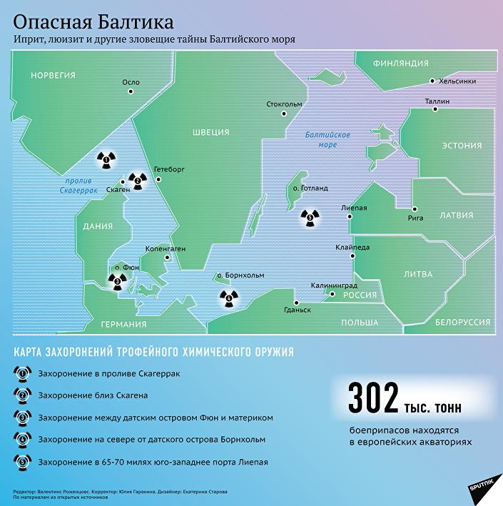 Карта захоронений трофейного химического оружия