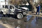 Взрыв автомобиль в Центральном районе Мариуполя