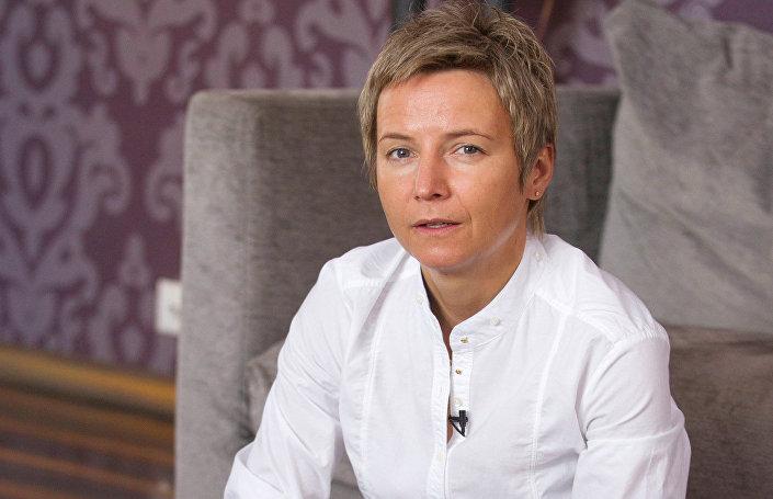 Светлана Сурганова во время интервью в своем доме в подмосковном Красногорске