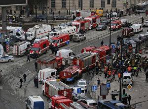 Ситуация у станции метро Сенная площадь в Санкт-Петербурге, 3 апреля 2017