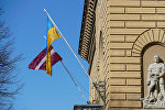 Latvijas un Ukrainas karogi