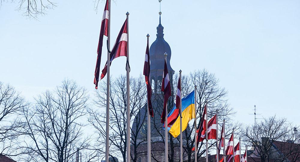 Визит президента Украины Петра Порошенко в Ригу