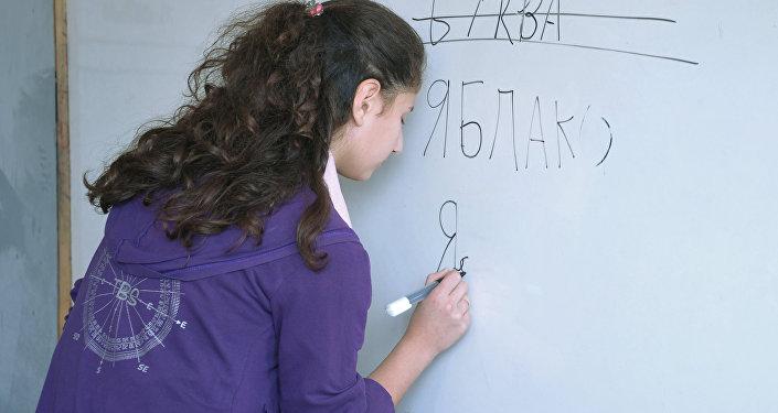 Занятие по русскому языку в школе