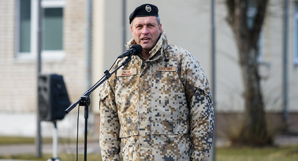 Командующий латвийской армии Леонид Калниньш